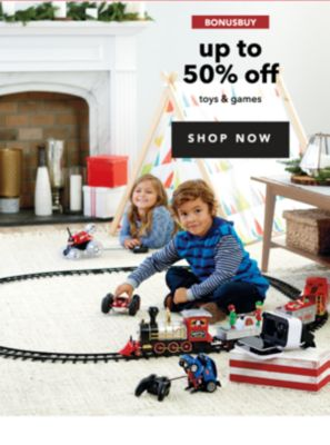 BONUSBUYS | up to 50% off toys & games | SHOP NOW