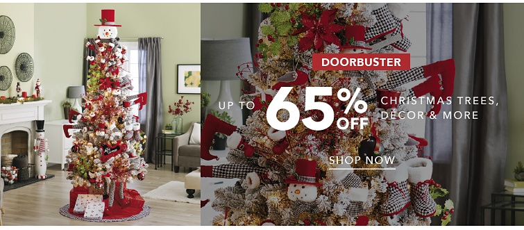 DoorBuster | Up to 65% off Christmas Trees, Decor and More | shop now