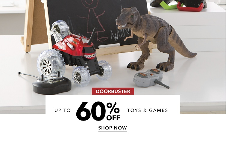 DoorBuster toys and games up to 60% off | shop now