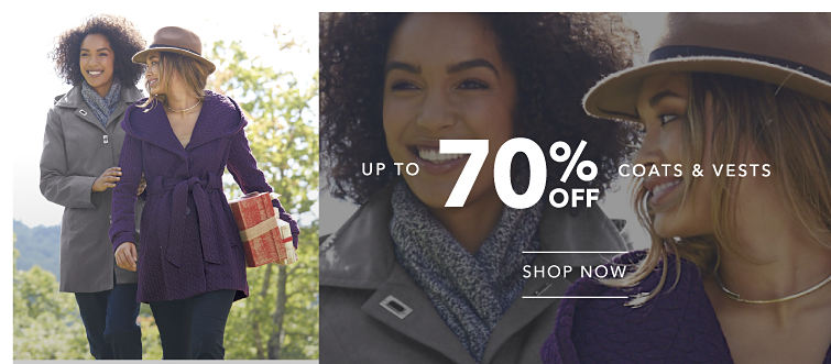 up to 70% off Coats & Vests - SHOP NOW