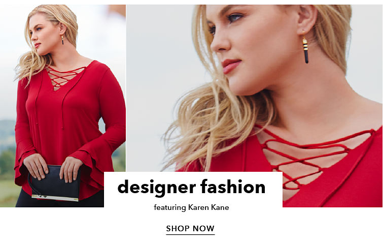 designer fashion featuring Karen Kane - SHOP NOW