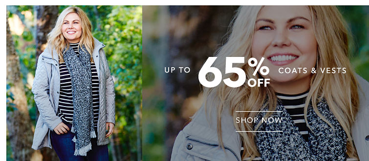 Up to 65% off Coats & Vests - SHOP NOW