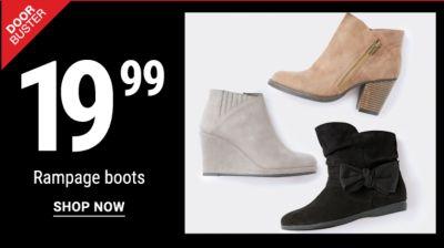 Doorbuster - 19.99 Rampage Boots. Shop Now.