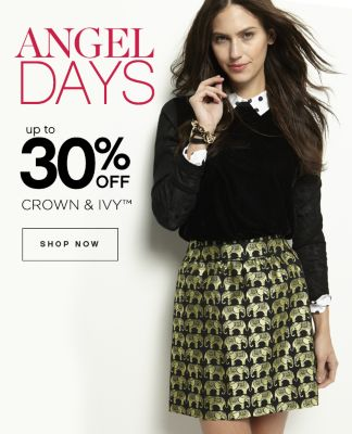 Angel Days Up to 30% Off Crown Ivy