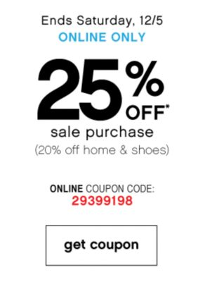 20% Off Sale Purchase