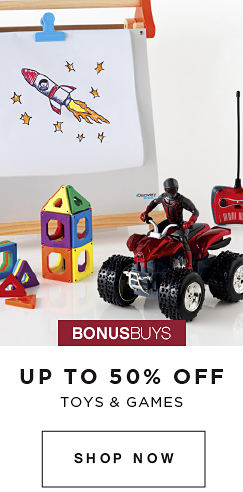 BONUSBUYS | UP TO 50% OFF TOYS & GAMESSHOP NOW
