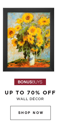 BONUSBUYS | UP TO 70% OFF WALL DECOR | SHOP NOW