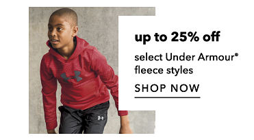 Up to 25 percent off select Under Armour fleece styles. Shop Now.