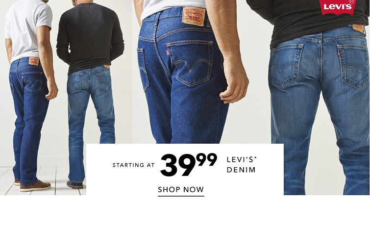 Levi's registered trademark denim. Starting at 39.99. Shop now