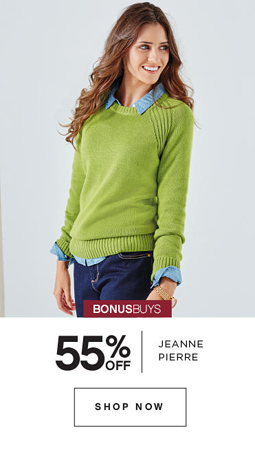 BONUSBUYS | 55% OFF JEANNE PIERRE | SHOP NOW