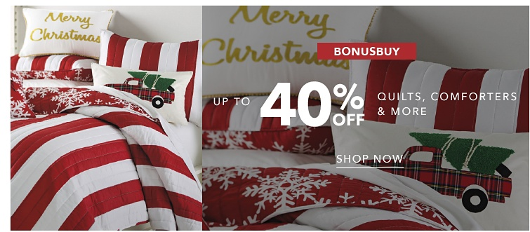 BonusBuy Up To 40% Off Quilts, Comforters & More | shop now