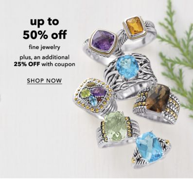 up to 50% off fine jewelry plus, an additional 25% OFF with coupon | SHOP NOW