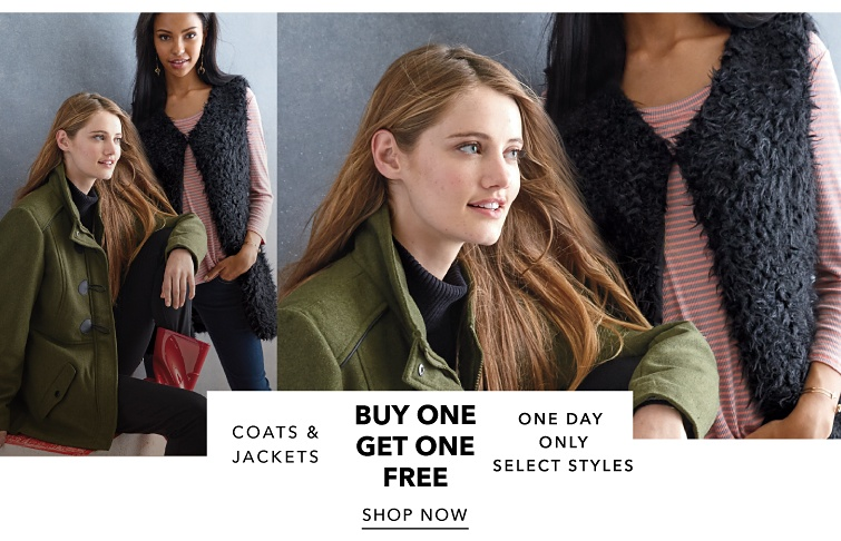 Buy One Get One Free Coats & Jackets on select styles. Shop Now.