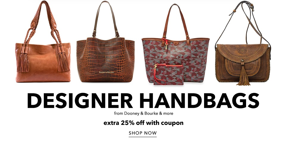 Designer Handbags form Dooney & Bourke & More - Extra 25% off with Coupon - Shop Now