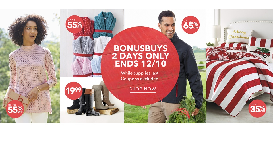 BonusBuys 2 Days Only Ends 12/10 *While supplies last. Coupons Excluded. - Shop Now