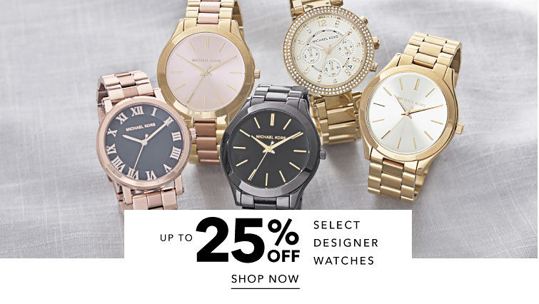 Up To 25% Off Select Designer Watches Shop Now