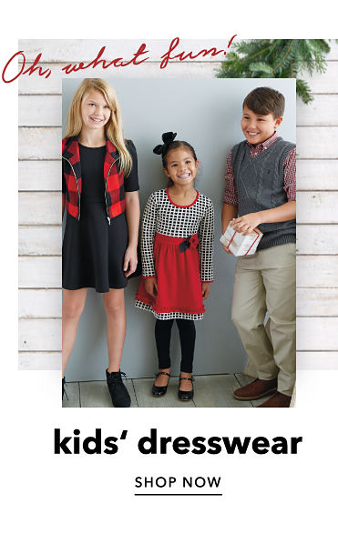Oh, what fun! Kids' dresswear. Shop Now.