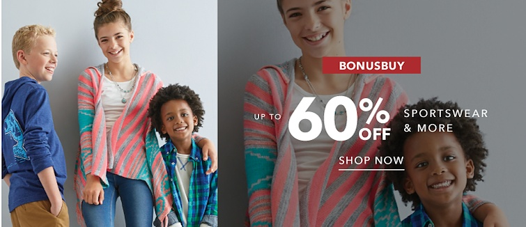 BonusBuy. Up to 60 percent off Sportswear and more. Shop Now.