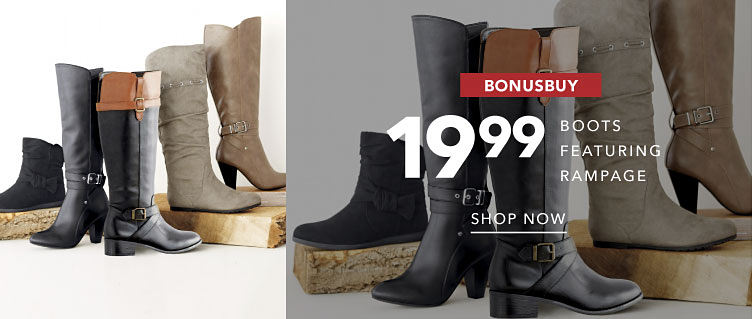 BonusBuy 19.99 Boots Featuring Rampage Shop Now