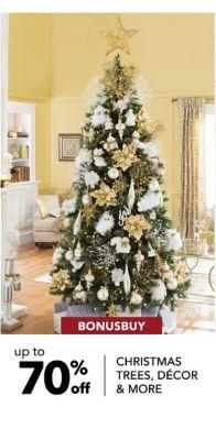 BONUSBUY | up to 70% off CHRISTMAS TREES, DECOR & MORE