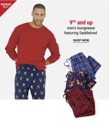 Bonus Buy! 9.99 and up Men's Loungewear featuring Saddlebred - Shop Now