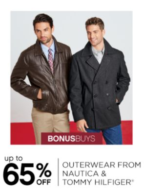 BONUSBUYS | up to 65% OFF OUTERWEAR FROM NAUTICA & TOMMY HILFIGER®