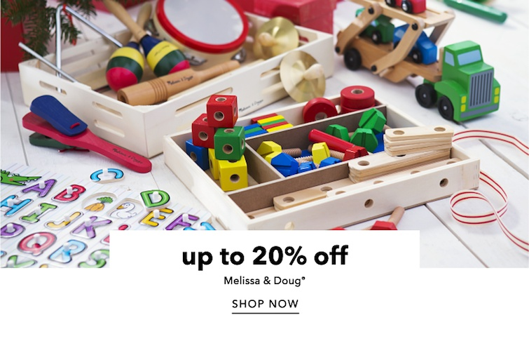 Up to 20 percent off Melissa and Doug. Shop Now.