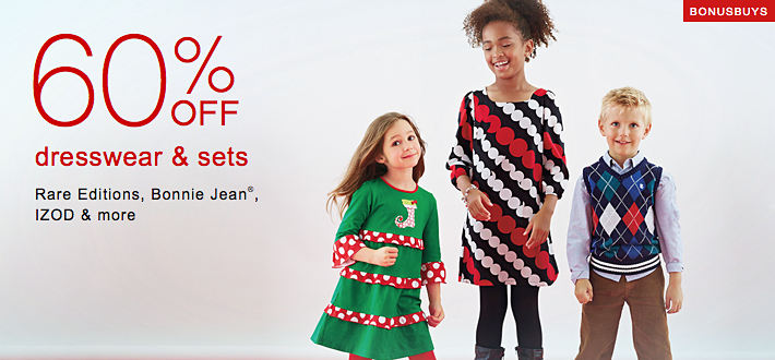 Bonus Buys | 60% off dresswear & sets Rare Editions, Bonnie Jean®, IZOD & more