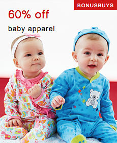 Bonus Buys | 60% off baby apparel