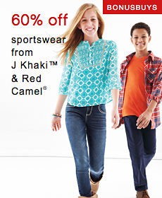 Bonus Buys | 60% off sportswear from J Khaki™ & Red Camel®