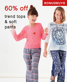 Bonus Buys | 60% off trend tops & soft pants