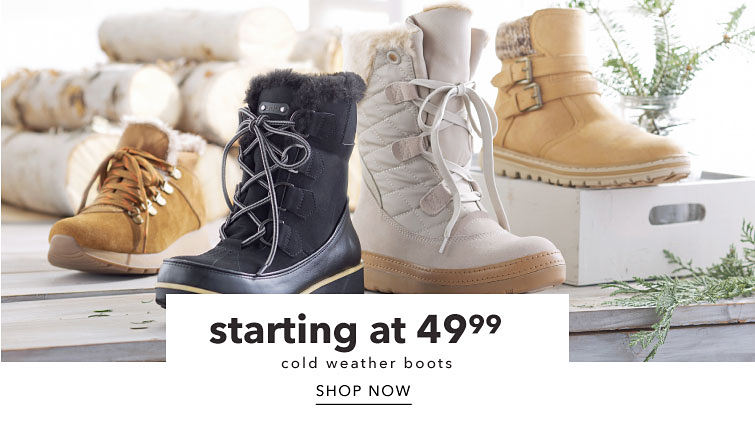 starting at 49.99 cold weather boots Shop Now