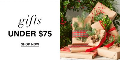 Gifts under $75. Shop Now.