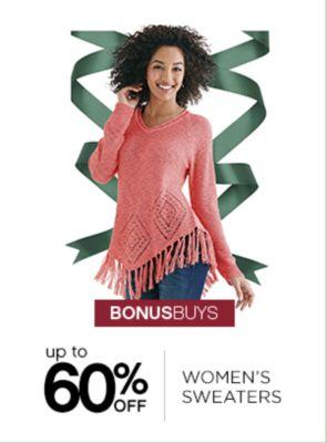 BONUSBUYS | up to 60% OFF WOMEN'S SWEATERS