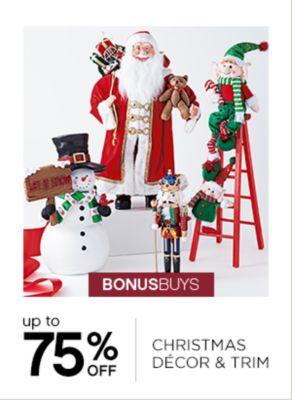 BONUSBUYS | up to 75% OFF CHRISTMAS DECOR & TRIM