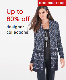 DOORBUSTERS | Up to 60% off designer collections