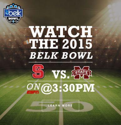BELK BOWL | WATCH THE 2015 BELK BOWL | VS. | ON ESPN @ 3:30PM | LEARN MORE