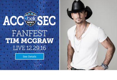 ACC | SEC FANFEST TIM MCGRAW LIVE 12.29.16 | See Details