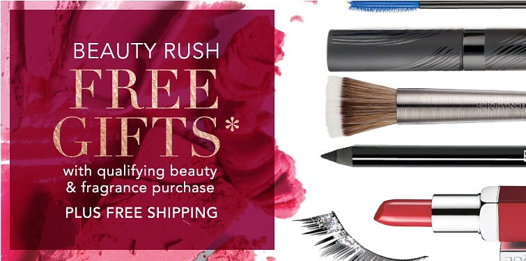 Beauty Rush - Free Gifts with qualifying beauty & fragrance purchase while quantities last. Plus Free Shipping.