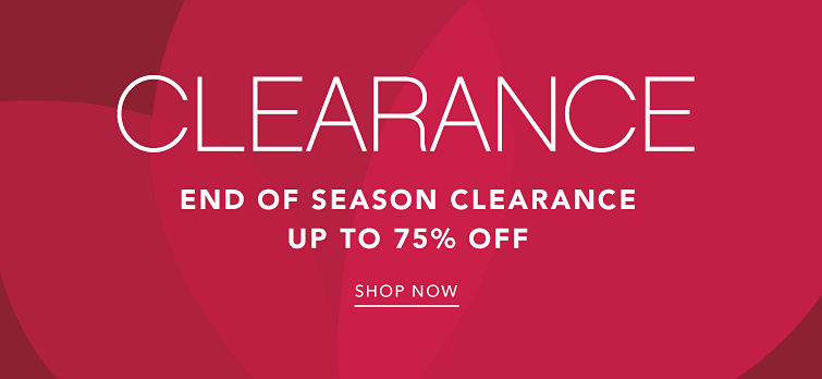 End of season clearance. Up to 75% off. Shop now