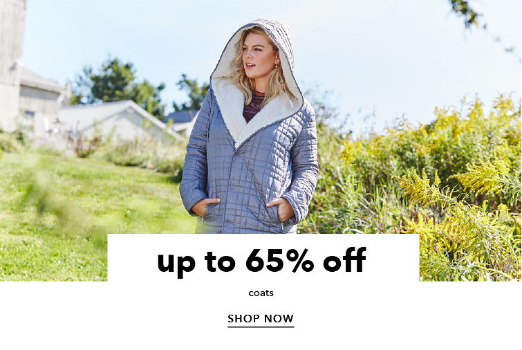 up to 65% off coats - SHOP NOW