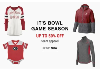 It's Bowl Game Season - Up to 50% off Team Apparel - Shop Now