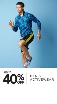 up to 40% OFF | MEN'S ACTIVEWEAR