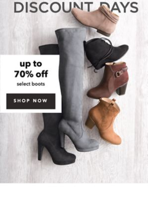 LAST CHANCE: EXTRA DISCOUNT DAYS - UP TO 70% OFF SELECT BOOTS. SHOP NOW.