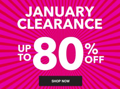 January Clearance - Up to 80% off. Shop Now.