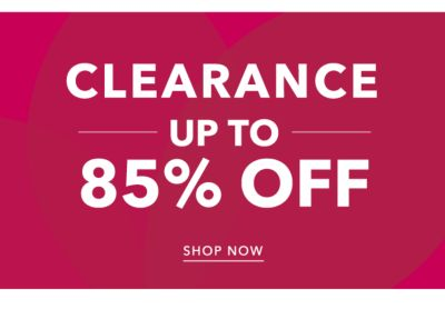 Clearance - Up to 85% off. Shop Now.
