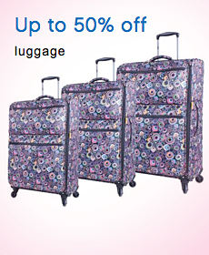 Up to 50% off luggage