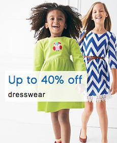 Up to 40% off dresswear