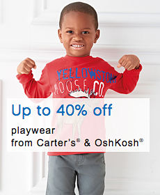 Up to 40% off playwear from Carter's® & OshKosh®