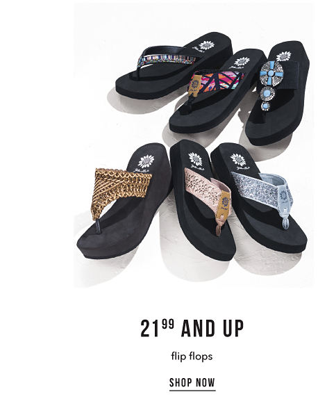 21.99 and Up Flip Flops - Shop Now